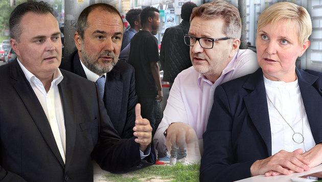 Kein Geld mehr für Illegale: Krisensitzung der SPÖ (Bild: ANDI SCHIEL, APA/HOCHMUTH, APA/PFARRHOFER, APA/HBF/PUSCH)