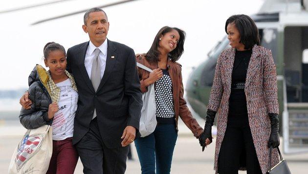 Barack Obama und Familie (Bild: AFP)