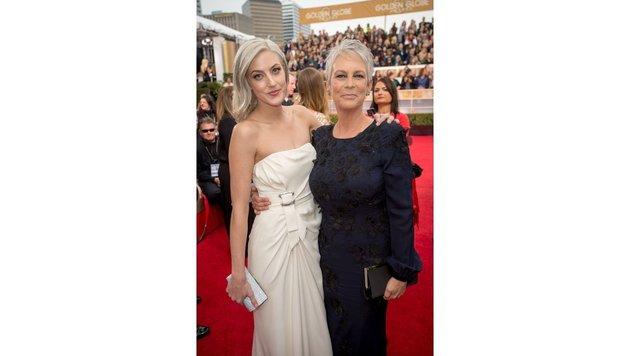 Jamie Lee Curtis und Tochter Annie bei den Golden Globes (Bild: face to face)