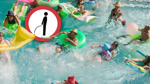 Forscher maßen über 75 Liter Urin in Schwimmbecken (Bild: thinkstockphotos.de)
