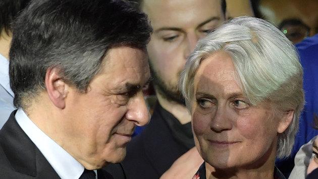 Francois Fillon mit Ehefrau Penelope (Bild: AFP)