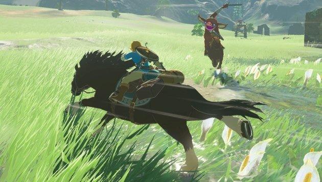 Längere Wegstrecken bewältigt Link später im Spiel auf seinem Ross. (Bild: Nintendo)