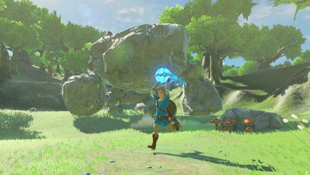 Mit Spezialfähigkeiten - hier Bomben - haut Link auch größere Gegner aus den Socken. (Bild: Nintendo)
