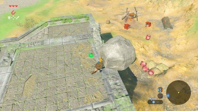 Statt sie zu bekämpfen, kann man Gegner auch überraschen - und die Schwerkraft sie erledigen lassen. (Bild: Nintendo)