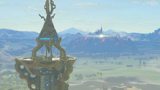 Auf Aussichtstürmen späht Link per Fernglas nach interessanten Orten in Hyrule. (Bild: Nintendo)