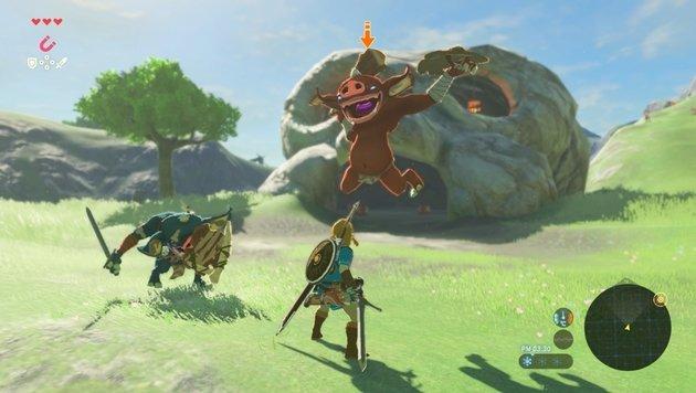 Das Kampfsystem ist ein zugänglicher Mix aus Blocken, leichten und schweren Hieben. (Bild: Nintendo)