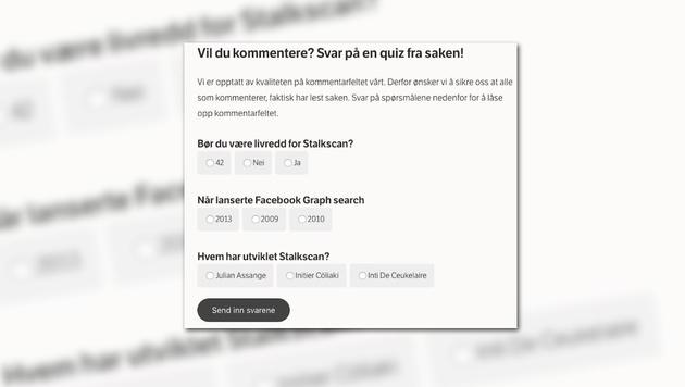 Blog zwingt Nutzer zum Lesen vor dem Kommentieren (Bild: nrkbeta.no, krone.at-Grafik)