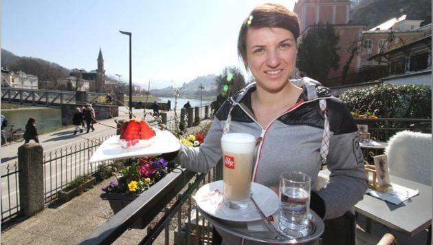 "Daniela Putz führt seit zwei Jahren das ""Café am Kai"" (Bild: Daniela Putz)"