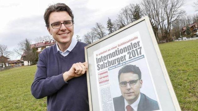 """Für die """"Krone""""-Auszeichnung hat er gedanklich schon einen Ehrenplatz reserviert (Bild: Markus Tschepp)"""