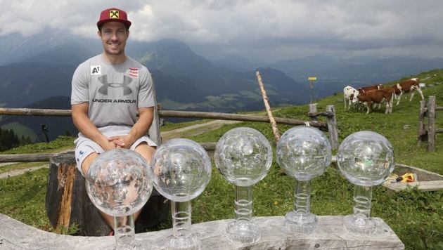Zu seinen bisherigen fünf kommt für Superstar Marcel Hirscher nun die sechste große Kugel dazu. (Bild: Andreas Tröster)