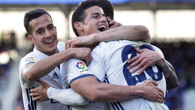 Real Madrid spaziert bei Eibar zu klarem 4:1-Sieg (Bild: AFP)