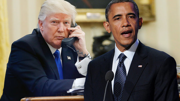 "Trump: ""Obama hat mein Telefon angezapft"" (Bild: ASSOCIATED PRESS, APA/EPA/BRYAN BEDDER)"