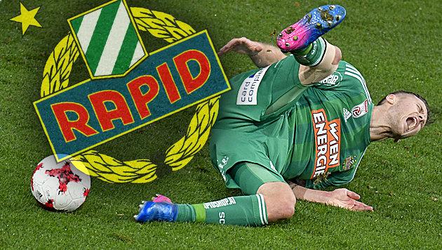 """Rapid-Ass Schwab: """"Wir haben Angst vorm Siegen!"""" (Bild: APA/HERBERT NEUBAUER)"""