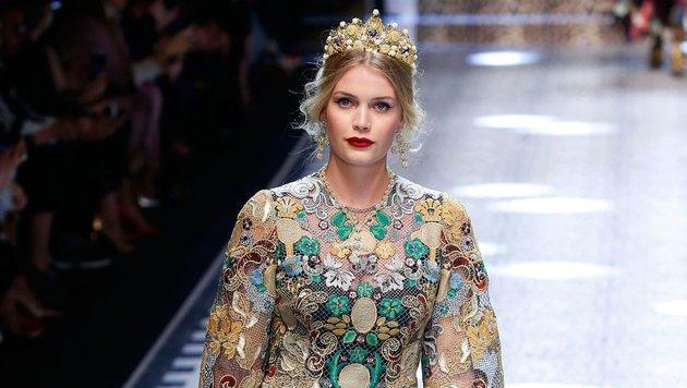 Kitty Spencer auf der Mailänder Fashion Week (Bild: face to face)
