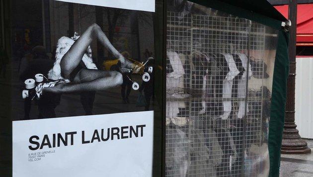 Die YSL-Werbeplakate sorgen in Frankreich für Empörung. (Bild: AFP)