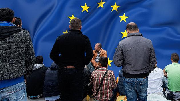 Sagte Merkel zu, 250.000 Migranten aufzunehmen? (Bild: Keystone/Lukas Lehmann, thinkstockphotos.de)