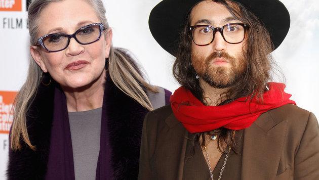 Carrie Fisher schrieb Lied mit John Lennons Sohn (Bild: AFP/Dimitrios Kambouris, AFP/Rahav Segev)