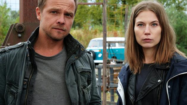 Ihr vierter gemeinsamer Fall: Matthias Koeberlin und Nora von Waldstätten (Bild: ORF)