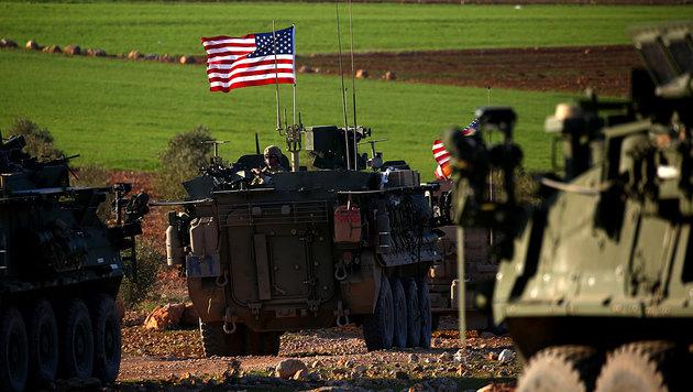 Einheiten des 75. Ranger-Regiments der USA in der Nähe des syrischen Manbidsch (Bild: AFP)