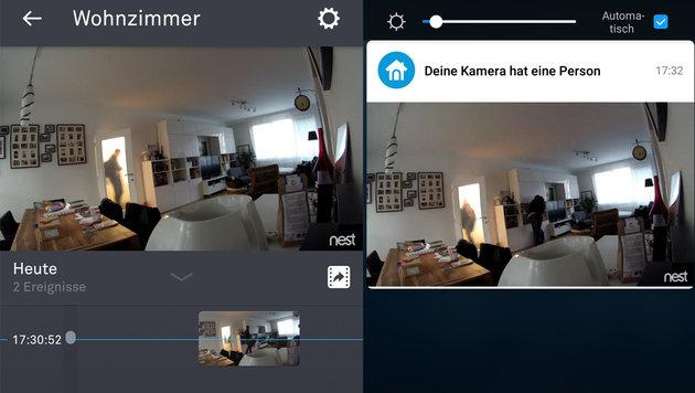 Der Nutzer wird informiert, sobald die Kamera eine Bewegung erkennt. (Bild: Screenshot)