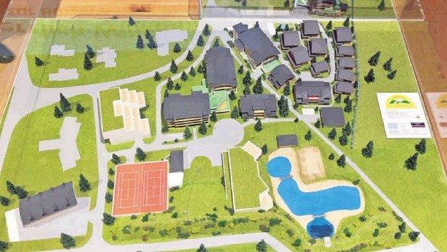 Auf über 30.000 Quadratmetern entsteht eine Anlage für ganzjährige touristische Nutzung. (Bild: Grafik/Lungau)