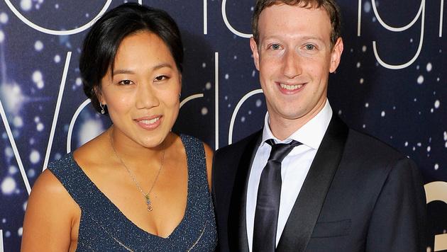 Mark Zuckerberg und seine Ehefrau Priscilla (Bild: Steve Jennings/Getty Images for Breakthrough Prize/AFP)