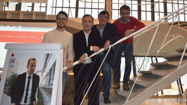 V. Pultar (jetzt Bezirksstelle), B. Auinger, M. Wanner, Ch. Hacker (wechselt in den Klub) (Bild: SPÖ)