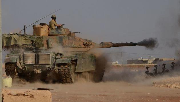 Ein türkischer M60-Kampfpanzer in Syrien (Bild: AFP)
