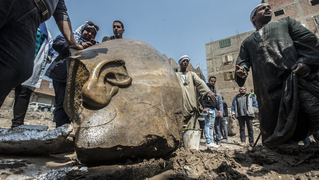 Wertvolles Grab eines Goldschmieds entdeckt (Bild: AFP/Khaled Desouki)
