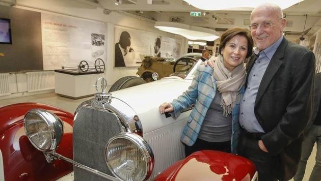 Heidi und Gert Pierers Herz schlägt für Oldtimer: â01EWahre Kunstwerke!â01C (Bild: Markus Tschepp)