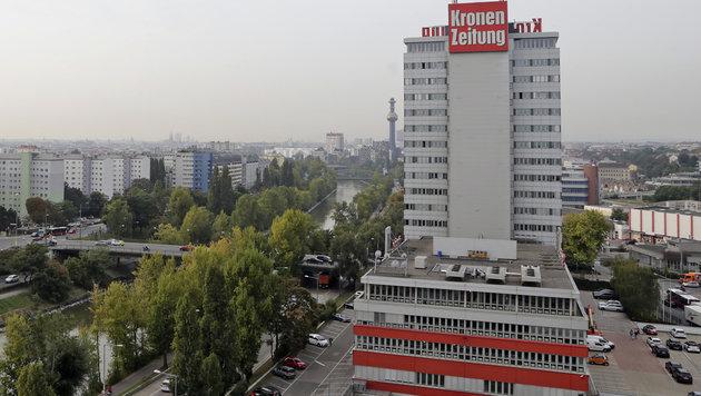 Das Pressehaus der Kronen Zeitung in Wien-Döbling (Bild: Klemens Groh)