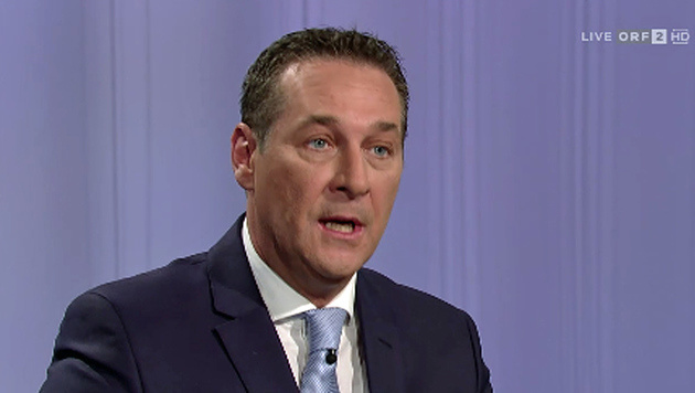 "Strache in der ORF-""Pressestunde"" (Bild: Screenshot/ORF)"