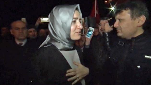 Die türkische Familienministerin Fatma Betül Sayan Kaya (Bild: Screenshot/Ruptly.TV)