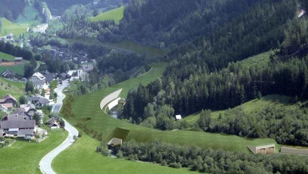 So sieht es aus,wenn es fertig ist: Begrünte Tunnels (Bild: Asfinag)