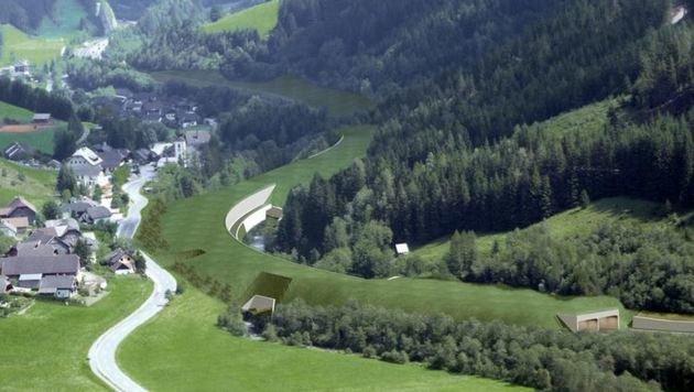 So sieht es aus, wenn es fertig ist: Begrünte Tunnels (Bild: Asfinag)