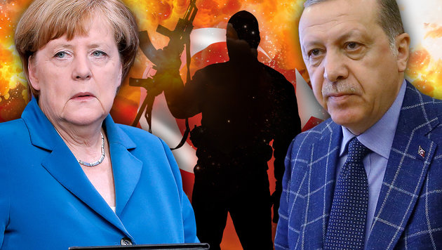 "Erdogan wirft Merkel ""Nazi-Praktiken"" vor. (Bild: AP/Kayhan Ozer, AP/Michael Sohn, thinkstockphotos.de)"