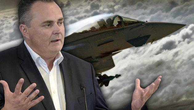Doskozil deutlich wie nie: Aus für Eurofighter? (Bild: APA/HBF/Pusch, thinkstockphotos.de)