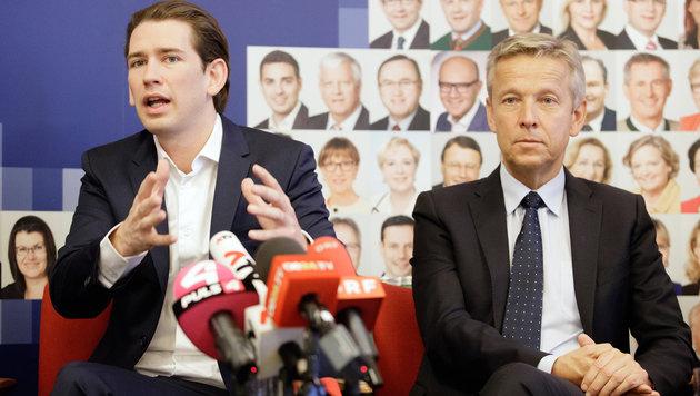 Sebastian Kurz, Reinhold Lopatka (Bild: APA/Georg Hochmuth)
