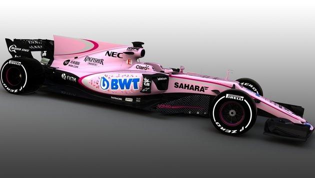 Force India dank Austro-Sponsor in pinkem Anstrich (Bild: Sahara Force India)