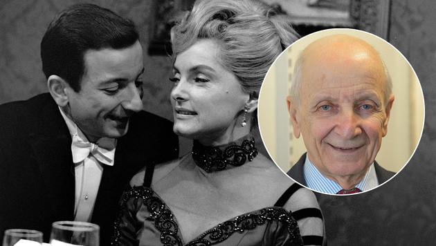"""Peter Matià107, heute mit 80 Jahren und 1966 in """"Schöne Seelen"""" mit Erni Mangold. (Bild: ORF, Andreas Tischler, krone.at-Grafik)"""