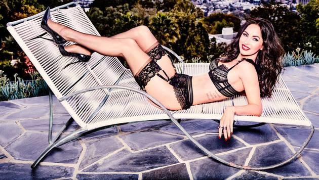 So sexy präsentiert sich Megan Fox in der neuen Dessous-Kampagne für Frederick's of Hollywood. (Bild: facebook.com/fredericks)