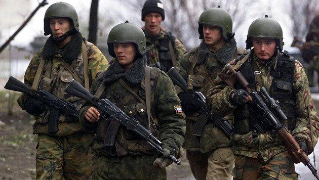 Scharfschützen einer Spezialeinheit der russischen Armee (Bild: EPA)