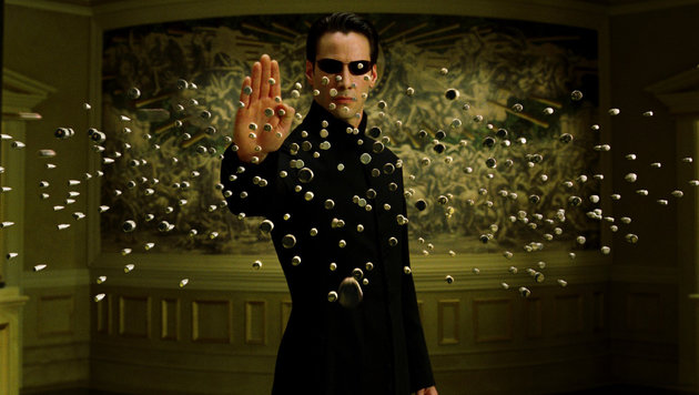 "Keanu Reeves in ""Matrix Reloaded"" (Bild: CapFSD/face to face)"