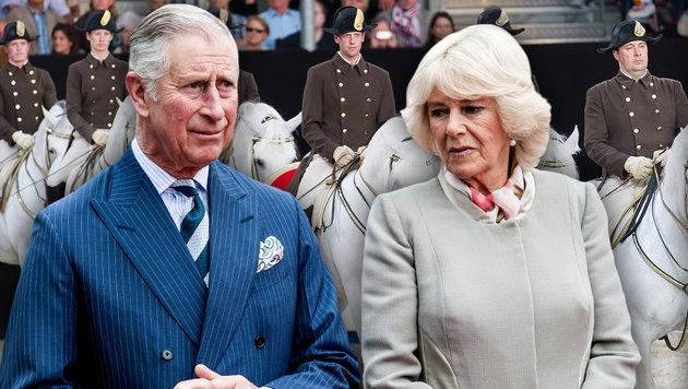 Prinz Charles besucht Erdbebenstadt in Italien (Bild: APA/HERBERT PFARRHOFER, EXPA)