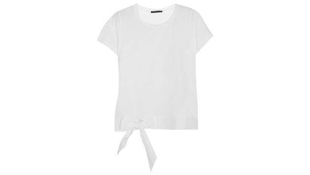 Weißes Shirt mit Schleife von J. Crew (Bild: J. Crew)