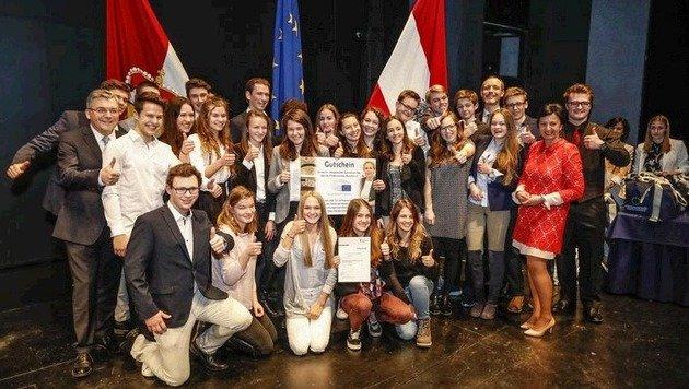 Den 1. Platz holte die 7e-Klasse des Akademischen Gymnasiums (Bild: Markus Tschepp)