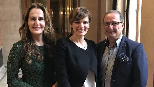 Maggie Entenfellner, Pamela Rendi-Wagner und Dietmar Keck (Bild: zVg)