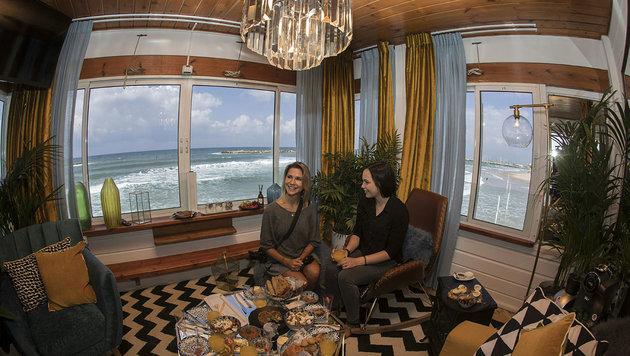 Lebensretter-Turm in Tel Aviv wird zu Mini-Hotel (Bild: AFP/Jack Guez)