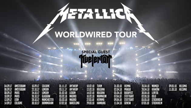 Metallica kündigen Europa-Tournee an (Bild: metallica.com)
