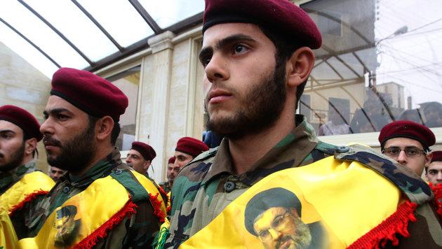 Kämpfer der Schiitenmiliz Hisbollah (Bild: AFP)